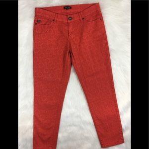 Dear John Floral Textured Skinny Jeans Size 28